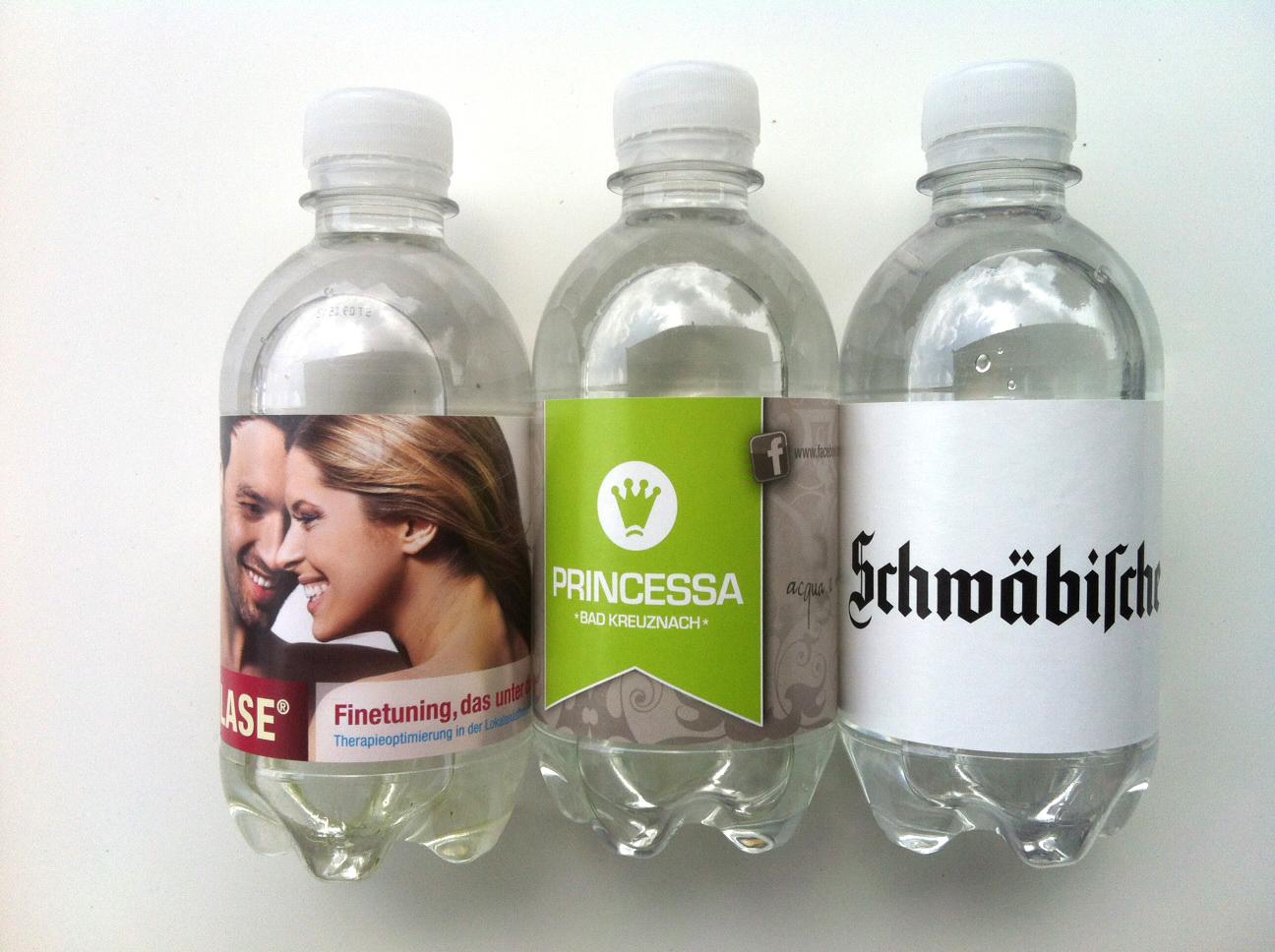 330ml Wasserflasche individuellem Papieretikett