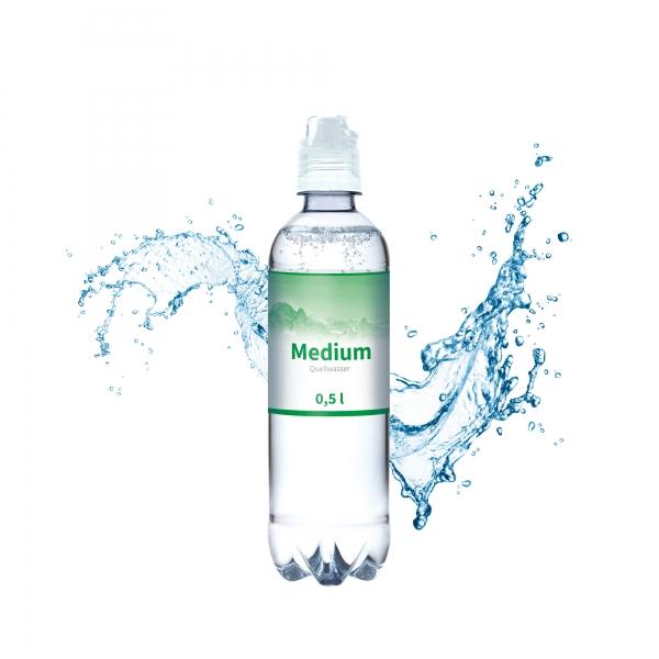 Wasser Flasche Medium 500 ml Sportscapverschluss
