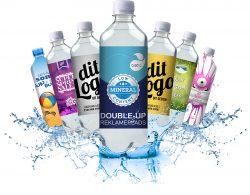600ml Mineralwasser mit Logo