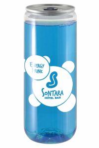 Dose Energydrink Blau Transparent