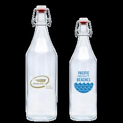 Bügelflaschen bedruckt aus Glas